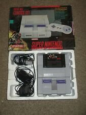 Super Nintendo SNES System White Console Killer Instinct Bundle w/ Box Game #38