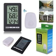 LCD Digital Indoor/ Outdoor Wireless Weather Station Desktop Clock Thermometer #