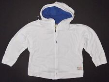 New Hollister Abercrombie Womens White Hoodie Zip Up Jacket Size Small