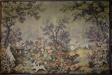 """Huge Antique/ vintage French Wall Hanging Tapestry  80"""" x 55""""JP Panneaux Gobelin"""