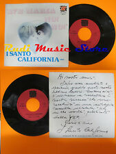 LP 45 7''I SANTO CALIFORNIA Ave maria No no Occhi 1976 italy YEP 00679*cd mc dvd