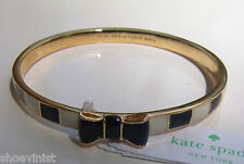 Kate Spade New York Idiom Bangles Take A Bow Bangle Bracelet Black Cream NWT