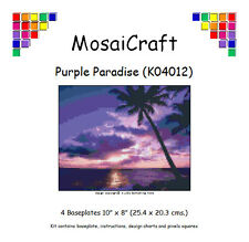 MosaiCraft Pixel Craft Mosaic Art Kit 'Purple Paradise' (Inc. Dove Tail Clips)
