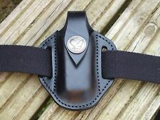 Leather Sheath for Leatherman Surge, Black with Quarter Dollar Closure