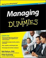 Managing For Dummies (For Dummies (Business & Personal Finance)), Bob Nelson, Pe