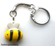GORGEOUS HANDMADE CUTE BUMBLE BEE KEYRING + FREE GIFT BAG