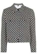 BNWT TOPSHOP PREMIUM BLACK AND WHITE BOUCLE HARRINGTON JACKET SIZE 10
