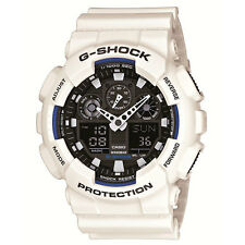 Mens Casio G-Shock ana/digi white watch GA-100B-7AER