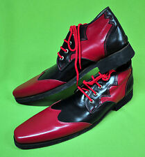 ZYKO Professional Real Leather Clown Shoes Extra Long model (ZH002) Red/Black