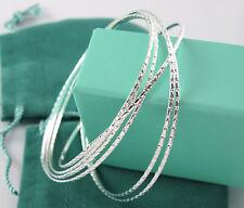 Wholesale Thick Silver women charm bracelet 6pcs/lot bangles