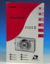 Canon ELPH 2 IXUS II Bedienungsanleitung Instruction manual E/F/G/H/I/S/P 101857