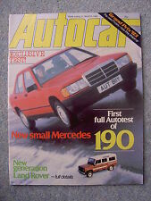 Autocar (12 March 1983) Mercedes 190 road test, Alpina B9, Land Rover One Ten