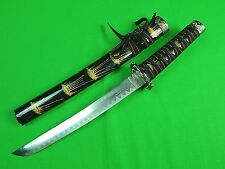 Decorative Japanese Japan Tanto Wakizashi Fighting Knife & Scabbard #2