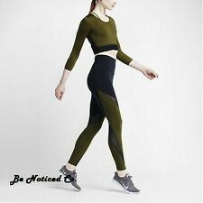 Nike NikeLab Essentials Dri-FIT Tights Women's Training Tights XS Black Green