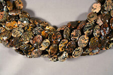"""SPOTTED WOOD OPAL 20X15MM OVAL BEADS 15.5""""  STRAND DENDRITIC AGATE"""