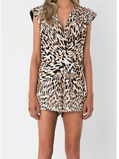 Finders Keepers Fast Lane Leopard Print Playsuit S M 8 10 12 NEW