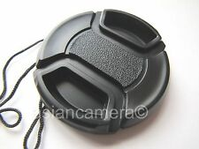 Front Lens Cap For Nikon Coolpix L-120 L120 + Cap Keeper Snap-on Glass Cover New