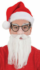 Santa Claus Beard Glasses Face Mask Set Kit Christmas Old Man Costume Accessory