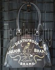 LIQUOR BRAND NIGHT REAPER BOWLING HANDBAG Purse Bag Bowler Grim Skeleton Scythe