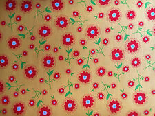 Riley Blake Fabric DELIGHTED! Floral on Yellow- yards