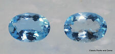 Faceted Aquamarine Gemstone Pair Aquamarin Edelstein Paar Aquamarina 1.39 ct