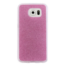 Fashion Luxury Bling Glitter TPU Back Case Clear Cover For Samsung Galaxy Phones
