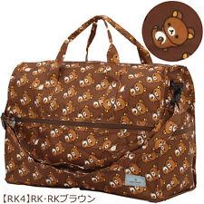 Rilakkuma Foldable Boston Bag, Large / Big, Attachable to Suitcase! Kawaii San-X