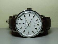 VINTAGE FAVRE LEUBA SEACHIEF GENEVE WINDING WRIST WATCH WHITE H335 OLD ANTIQUE