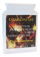 DRAGONFIRE  PENIS ENHANCEMENT SEX PILLS ERECTION BOOSTER CAPSULES 60 x 1000mg