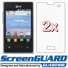 2x LG Optimus Dynamic L38G L38C Straight Talk LCD Screen Protector Guard Film