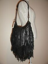 Lost & Found Bochoa Fringe Shoulder Bag Convertible Hippie Hobo Leather NWT