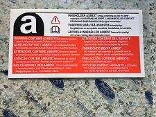 New Genuine Ford Sierra Cosworth Fiesta Rs Turbo Escort Asbestos Warning Decal