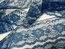 NAVY BLUE LACE 3 in. wide - 5 yds. WEDDING TRIM - RUNNERS - INVITATIONS - sewing