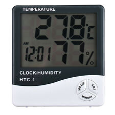 Home LCD Digital Thermo-hygrometer Temperature Humidity Meter Tester with Clock