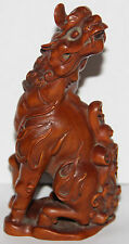 Very Beautiful Unique  Chinese Hand Carved Boxwood Dragon (?) Statue