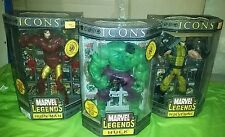 Marvel legends lot icons hulk signed lou ferrigno autograph wolverine iron man