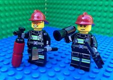 Lego City Town Fireman Minifigures Helmet Extinguisher Megaphone Axe Walky Talky