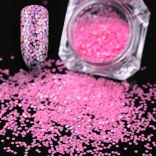 Pink Color Hexagon Mini Nail Art Glitters Sequins Stickers 3D Decoration Box