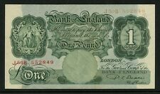 BANKNOTE ERROR GB 1950 BEALE £1...DRY PRINT of SERIAL NUMBER J50B