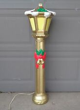 "HTF 43"" POLORON CHRISTMAS GOLD LANTERN BLOW MOLD YARD DECOR"