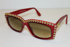 EMMANUELLE KHANH RED GOLD STUD FASHION SUNGLASSES
