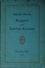 1937 NATIONAL SOCIETY DAUGHTERS of the AMERICAN COLONISTS YEARBOOK (NSDAC