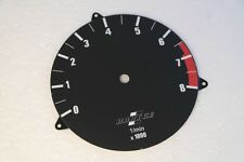 BMW E28 E24 Hartge 8000 RPM Euro Rev counter Dial Plate sticker M5 M635CSi