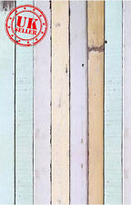 PASTEL WOOD FLOOR BACKDROP WALLPAPER BACKGROUND VINYL PHOTO PROP 5X7FT 150x220CM