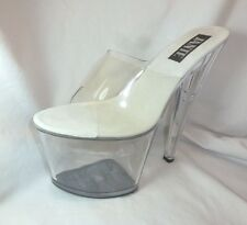 Clear Platform Stripper Shoes Pole Dancer Pleaser Extreme Heels 8 Inch SIZE 11