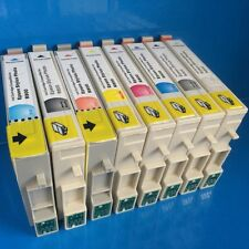 8 Printer Ink Cartridges for Epson Stylus Photo R800 R1800 T0591-T0599 Non OEM