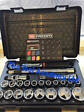 FACOM NEW RELEASE FOR 2017 1/2 DRIVE SOCKET RATCHET TOOL SET NEW DESIGN 8-32mm