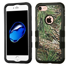 Apple iPhone 7 3D Camo Hunting Hard Shockproof TUFF Hybrid Protector Case Cover