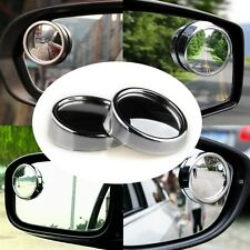 Brand New 2pcs HD Auxiliary Round Rear View Blind Spot Wide-angle Mirror Silver