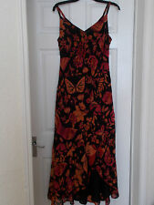 MONSOON 100% SILK DRESS BUTTERFLY FLOWERS SIZE 16